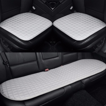 Car Seat Cushion,Front and Rear Row,Non-slip Fabric,NoInstallation,Interior Accessories,Silver - intl