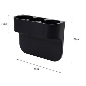 Car Seat Gap Storage Box Black Plastics Auto Water Cup Mobile PhonePocket Organizers Automoibe Seat Gap Holder Stowing Tidying,Black -intl - 3
