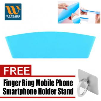 Car Seat Storage Box Organizer Case Protect Catch Catcher CaddySlit Pocket (Blue) with free Finger Ring Mobile Phone SmartphoneHolder Stand for iPhone (Silver)
