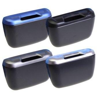 Car Side Door Interior Cargo Trash Can Garbage Storage Box Container(Blue) - 2