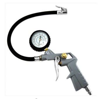 Car Truck Tire Tyre Air Inflator Dial Pump Hose Pressure GaugeCompressor 220PSI   - intl