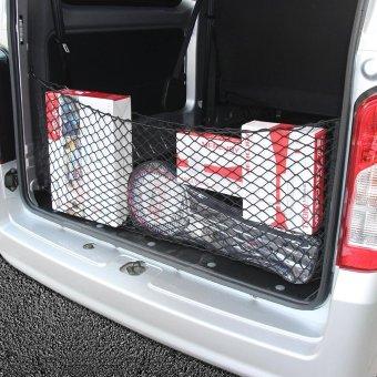 Car Trunk SUV Rear Cargo Organizer Storage Elastic Mesh Net Holder4 Hooks Black - intl - 3