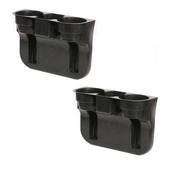 Car Valet Cup Holder Set of 2 (Black)