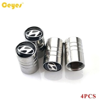 Car Wheel Tire Valves Tyre Stem Air Caps Cover case for All Carsemblem auto accessories Car-stying Stainless Steel 4pcs/set - intl - 3