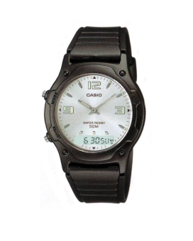 Casio Analog-Digital Combination Men's Black Resin Strap Watch AW-49HE-7A with 1 Year Warranty (T1Y)