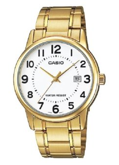 Casio Analog Gold Stainless Steel Strap Men's Watch MTP-V002G-7BUDF