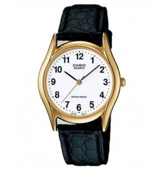 Casio Analog Mens Leather Strap Watch MTP-1094Q-7B1