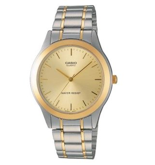 Casio Analog Mens Stainless Steel Strap Watch MTP-1128G-9A