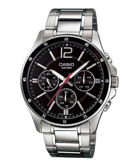 Casio Analog Mens Stainless Steel Strap Watch MTP-1374D-1AVDF