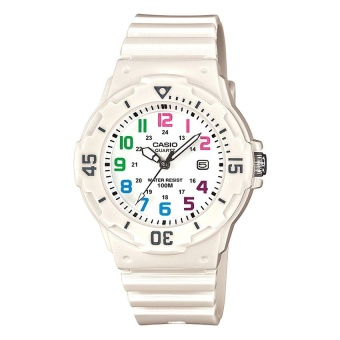 Casio Analog Women's White Resin Strap Watch LRW-200H-7B with 1 Year Warranty (T1Y)