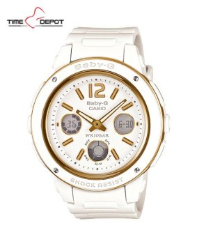 Casio Baby-G Women's Analog Digital White Resin Strap Watch BGA-151-7B