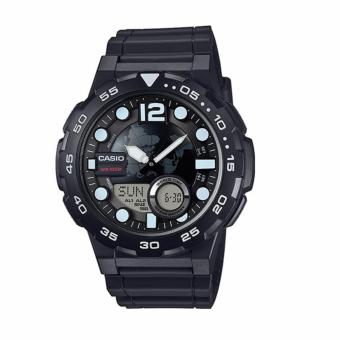 Casio Black Rubber Strap Men's Watch AEQ-100W-1AVDF
