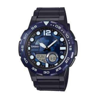 Casio Black Rubber Strap Men's Watch AEQ-100W-2AVDF