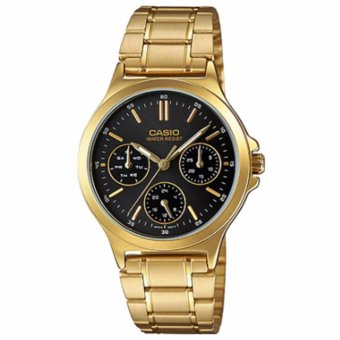 Casio Chronograph Gold Black Women's Watch LTP-V300G-1A