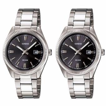 Casio Classic Collection Couples Silver Stainless Steel Watch LTP-1302D-1A1VDF & LTP-1302D-1A1VDF