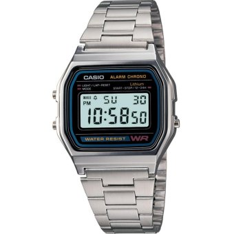Casio Classic Silver Stainless Steel Band Unisex Watch A158