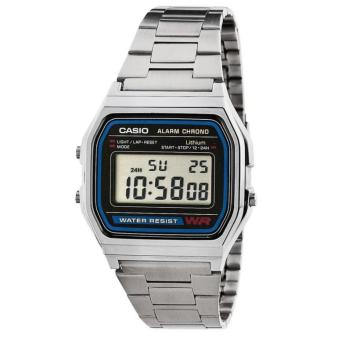 Casio Classic Silver Stainless Steel Strap UNISEX Watch A158WA-1DF