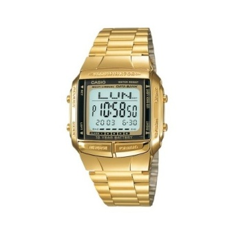 Casio Data Bank Men's Gold Tone Plated Stainless Steel Strap Watch DB-360G-9A with 1 Year Warranty (T1Y)