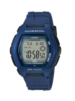Casio Digital Men's Blue Resin Strap Watch HDD-600C-2A with 1 Year Warranty (T1Y)