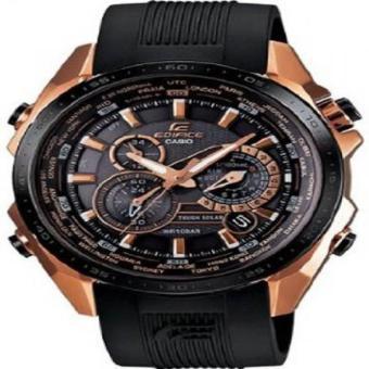Casio Edifice Black X Rose Gold Dial Men Watch - EQS500CG-1A
