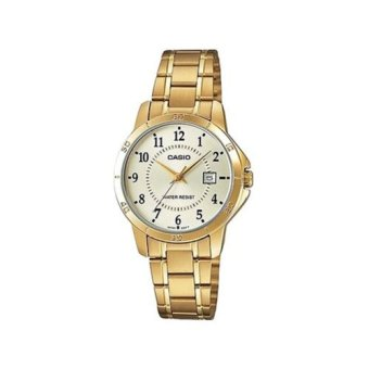 Casio Enticer Women's Gold Stainless Strap Watch LTP-V004G-9BUDF
