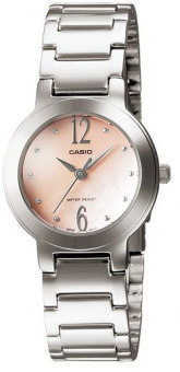 Casio Enticer Women's Silver Stainless Steel Strap Watch LTP-1191A-4A2 with 1 Year Warranty (T1Y)