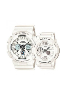 Casio G-Shock & Baby-G Men's & Women's GA-120A-7A &BGA-180-7B1 Couple Resin Strap Watch White Price Philippines