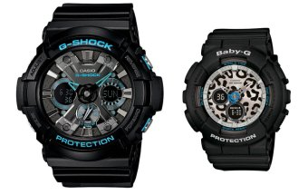 Casio G Shock Couples Black Steel for men and Leopard print for women GA201BA-1 BA120LP-1A Price Philippines