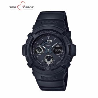 Casio G-Shock Men's Analog Digital Black Resin Strap Watch AW-591BB-1A