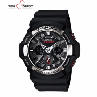 Casio G-Shock Men's Black Resin Strap Watch GA-200-1A