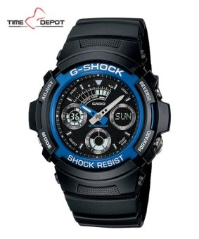 Casio G-Shock Men's Blue Resin Strap Watch AW-591-2A