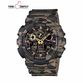 Casio G-Shock Men's Camouflage Resin Strap Watch GA-100CM-5A
