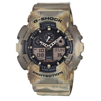CASIO G-SHOCK Men's Multicolor Resin Strap Watch GA-100MM-5A
