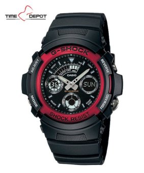 Casio G-Shock Men's Red Resin Strap Watch AW-591-4A