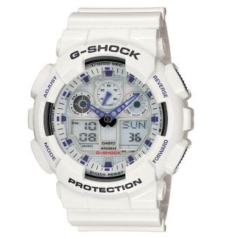 Casio G-Shock Men's White Resin Strap Watch GA-100A-7
