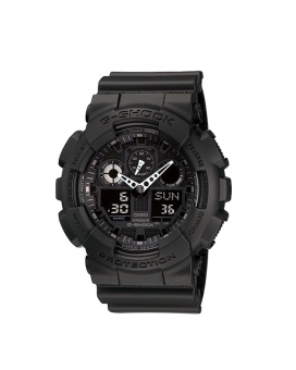 Casio G-Shock Men's Black Resin Strap Watch GA-100-1A1D with 1 Year Warranty (T1Y)