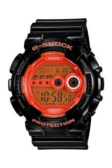 Casio G-Shock Men's Black Resin Strap Watch GD-100HC-1