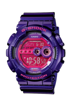 Casio G-Shock Men's Purple Resin Strap Watch GD-100SC-6