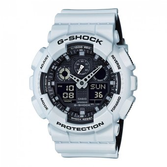 Casio G-Shock Men's White Resin Strap Watch GA-100L-7A