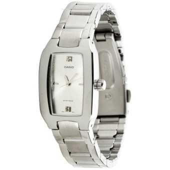 Casio General Ladies Stainless Steel Fashion Watch- White Dial- LTP-1165A-7C2DF