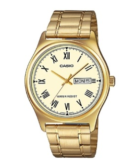 Casio Gold Stainless Steel Band Men'S Watch Mtp-V006G-9B