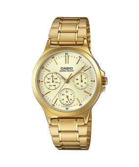 Casio Gold Stainless Steel Band Women'S Watch Ltp-V300G-9A