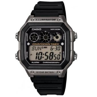 CASIO Illuminator Black Rubber Strap Men's Watch AE-1300WH-8AVDF