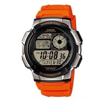 Casio Illuminator Men's Orange Resin Strap Watch AE-1000W-4BVDF