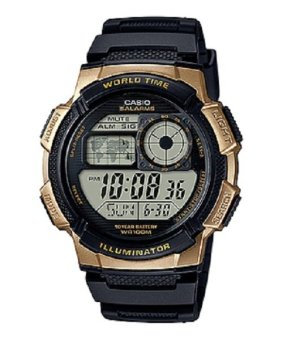 Casio Illuminator Sports Digital Men's Gold/Black Resin Strap Watch AE-1000W-1A3VDF