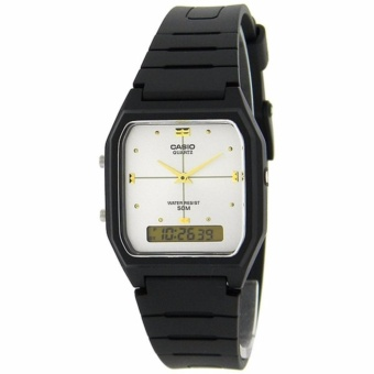 Casio Ladies Classic Women's Black Resin Strap Watch AW-48HE-7AVDF