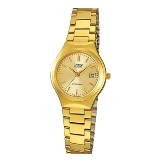 CASIO Ladies Gold Stainless Steel Strap Watch - LTP-1170N-9ARDF
