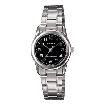 Casio Ladies Silver Stainless Steel Band Watch LTP-V001D-1BUDF