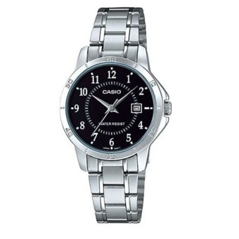 Casio Ladies Silver Stainless Steel Band Watch LTP-V004D-1BUDF