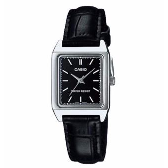 Casio LTP-V007L-1E Ladies' Analog Black Leather Band Watch
